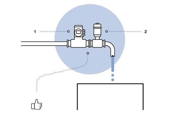 Flowave flowmeter with a dosing valve scheme
