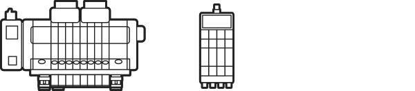 Allgemeine grafische Darstellung zweier verschiedener Ventilinseln